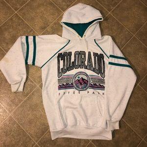 Vintage 80s 90s Colorado USA 2-Tone Hoodie